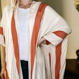 Women's Pink and White Kimono